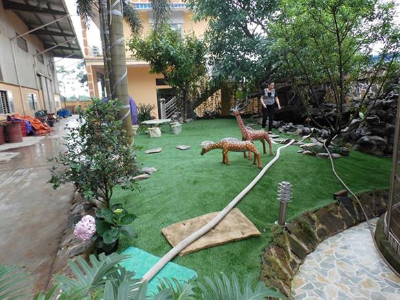 休闲人造草坪铺装案例图3