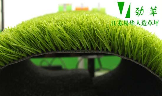 易华人造草坪铺设草高侧面图