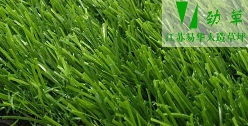 易华人造草坪铺设草丝