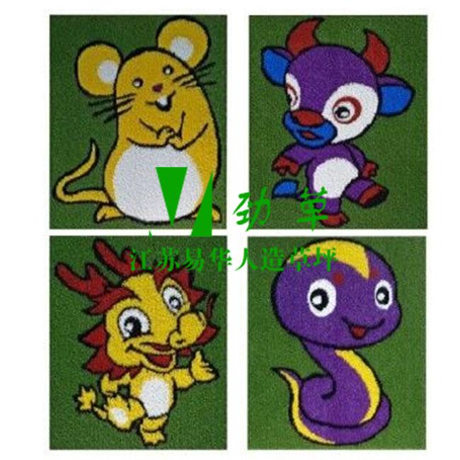 幼儿园卡通图案十二生肖之鼠牛龙蛇