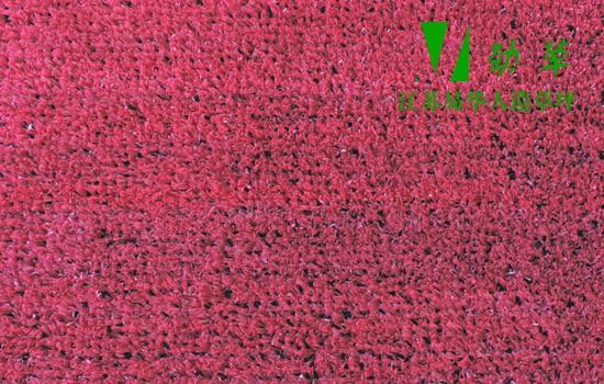商业铺装专用人造草坪大红色人造草坪YHYH532-2807